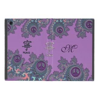 Retro Hippie Peace Fractal Personalized Case For iPad Mini