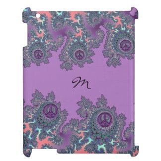 Retro Hippie Peace Fractal Personalized iPad Case