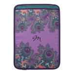 Retro Hippie Peace Fractal Personalized Sleeves For MacBook Air