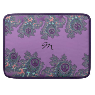Retro Hippie Peace Fractal Personalized Sleeve For MacBook Pro