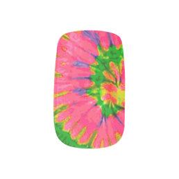 Retro Hippy Tie Dye Minx Nail Art