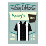 "Retro Hipster Bowling Rockabilly  Birthday 5"" X 7"" Invitation Card"