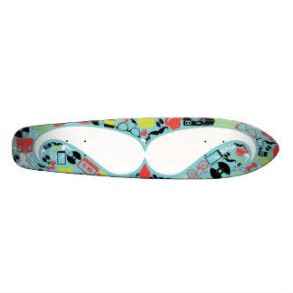 Retro hipster mustache trendy design tabla de skate