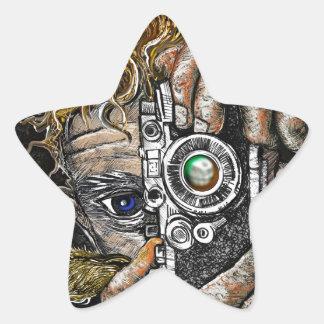 Retro Hipster Selfie Star Sticker