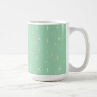 Retro Hipster Space Age Atomic Starburst 15oz Coffee Mug