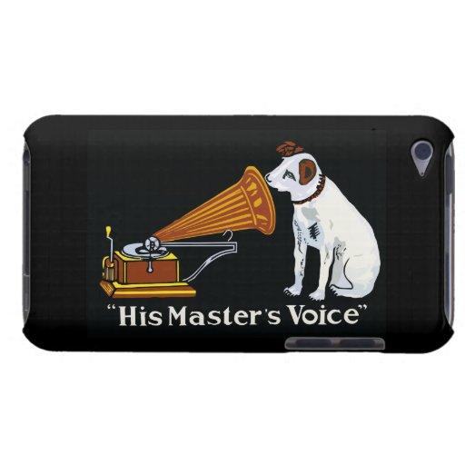 retro his master 39 s voice gramophone ad ipod touch cover zazzle. Black Bedroom Furniture Sets. Home Design Ideas