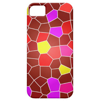 Retro hoesje with mosaic red pattern iPhone SE/5/5s case