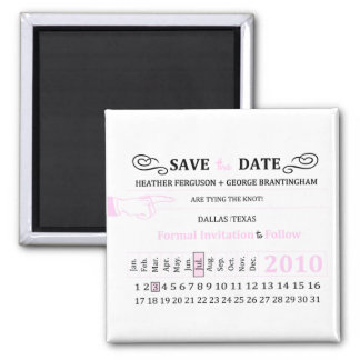 """retro hole punch """"save the Date"""" magnet"""