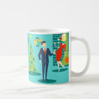 Retro Holiday Cartoon Couple Coffee Mug