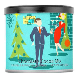Retro Holiday Cartoon Couple Hot Chocolate Mix