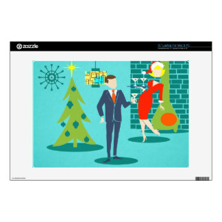 Retro Holiday Cartoon Couple Laptop Skin