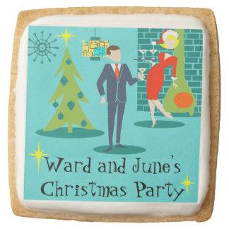 Retro Holiday Cartoon Couple Sugar Cookies