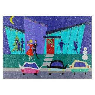 Retro Holiday Cartoon Party Cutting Board