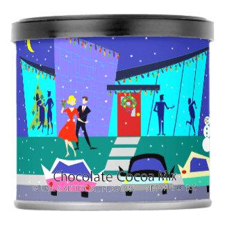 Retro Holiday Cartoon Party Hot Chocolate Mix