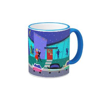 Retro Holiday Cartoon Party Mug