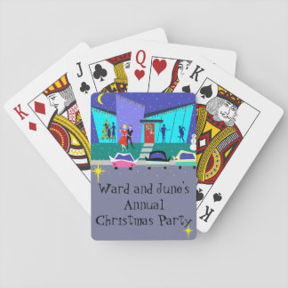 Retro Holiday Cartoon Party Playing Cards