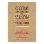 "Retro Holiday Cookie Swap Exchange Invitation 5"" X 7"" Invitation Card"