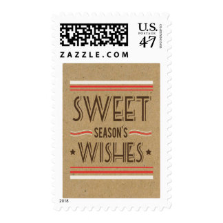 Retro Holiday Cookie Sweets Postage