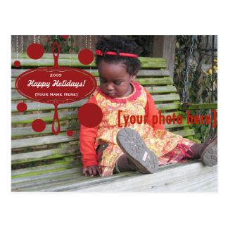 Retro Holiday Ornament Postcard