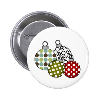 Retro Holiday Ornaments Pin