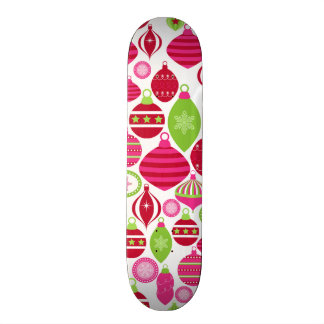 Retro Holiday Ornaments Christmas Pattern Skateboard Decks