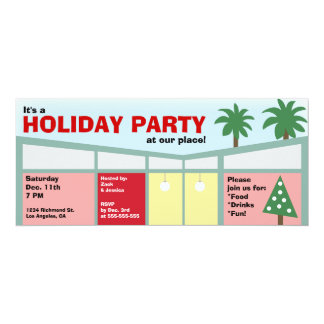 Retro Holiday Party Invitation
