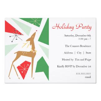 Retro Holiday Party Invitation - Deer