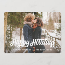 Retro Holiday Photo Card