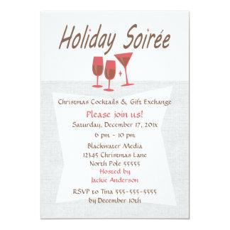 Retro Holiday Soiree Invitation
