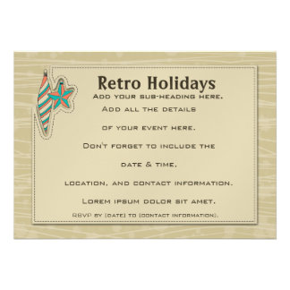 Retro Holidays 7x5 Invitation