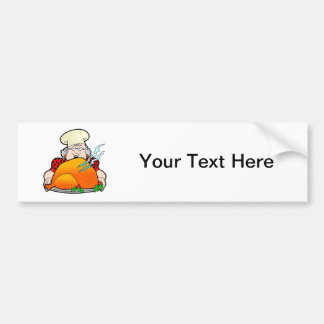 Retro Home Cooking Design. Add Your Own Text. Bumper Sticker