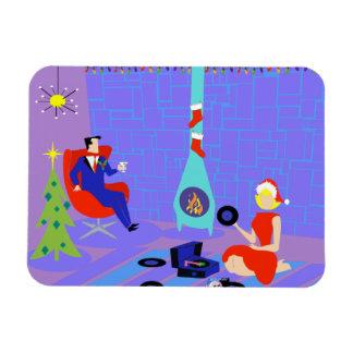 Retro Home for the Holidays Flexi Magnet