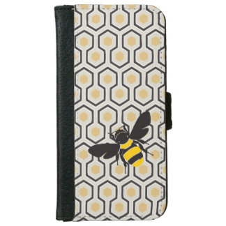 Retro Honeycomb Pattern Beehive iPhone 6/6s Wallet Case