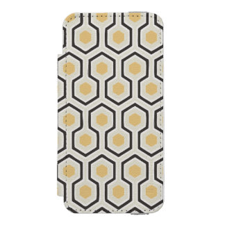 Retro Honeycomb Pattern Beehive iPhone SE/5/5s Wallet Case