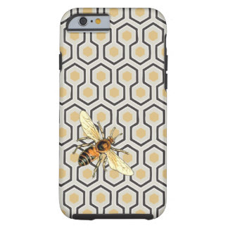 Retro Honeycomb Pattern Beehive Tough iPhone 6 Case