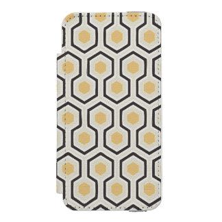 Retro Honeycomb Pattern Beehive Incipio Watson™ iPhone 5 Wallet Case