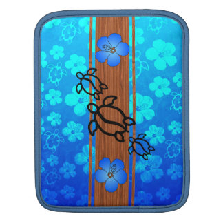 Retro Honu Surfboard iPad Sleeves