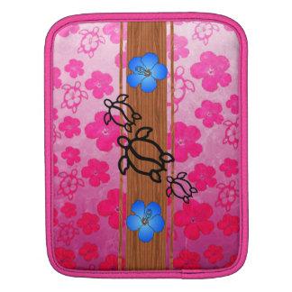 Retro Honu Surfboard iPad Sleeve