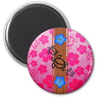 Retro Honu Surfboard Fridge Magnet