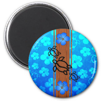 Retro Honu Surfboard Magnets