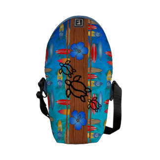 Retro Honu Surfboard Messenger Bag
