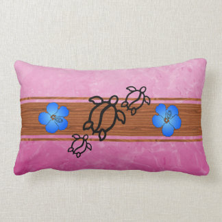 Retro Honu Surfboard Pillow