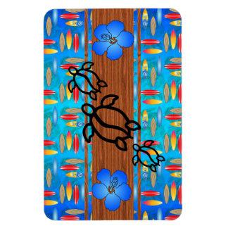 Retro Honu Surfboard Flexible Magnets