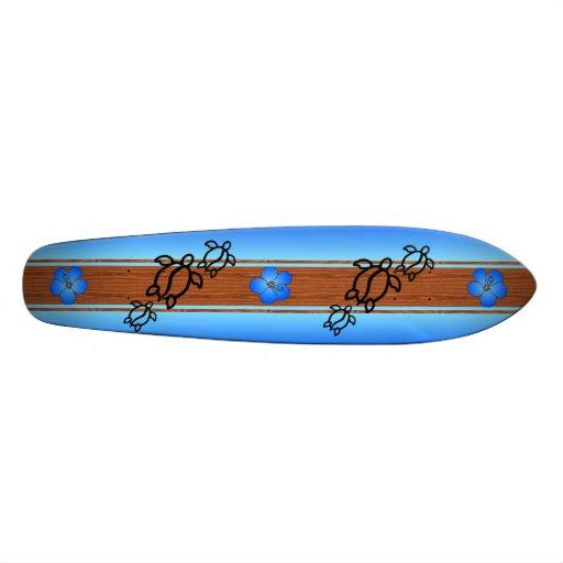Retro Honu Surfboard Skate Deck