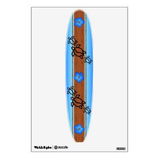 Retro Honu Surfboard Wall Graphic