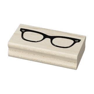 Retro Horn Rimmed Glasses Rubber Art Stamp