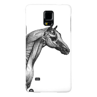 Retro horse muscle anatomy picture galaxy note 4 case