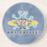 retro hot coffee design beverage coaster