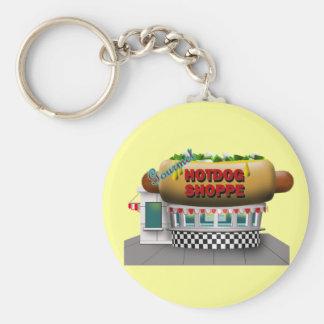 Retro Hot Dog Shoppe Keychains