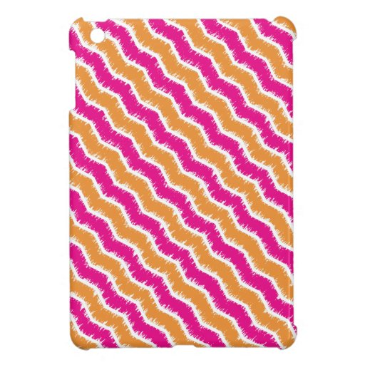 Retro Hot Pink & Orange Zig Zag iPad Mini Case